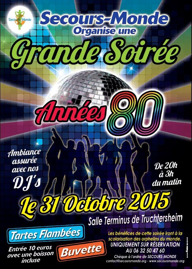 """Notre soirée """"années 80"""" le 31 octobre 2015"""